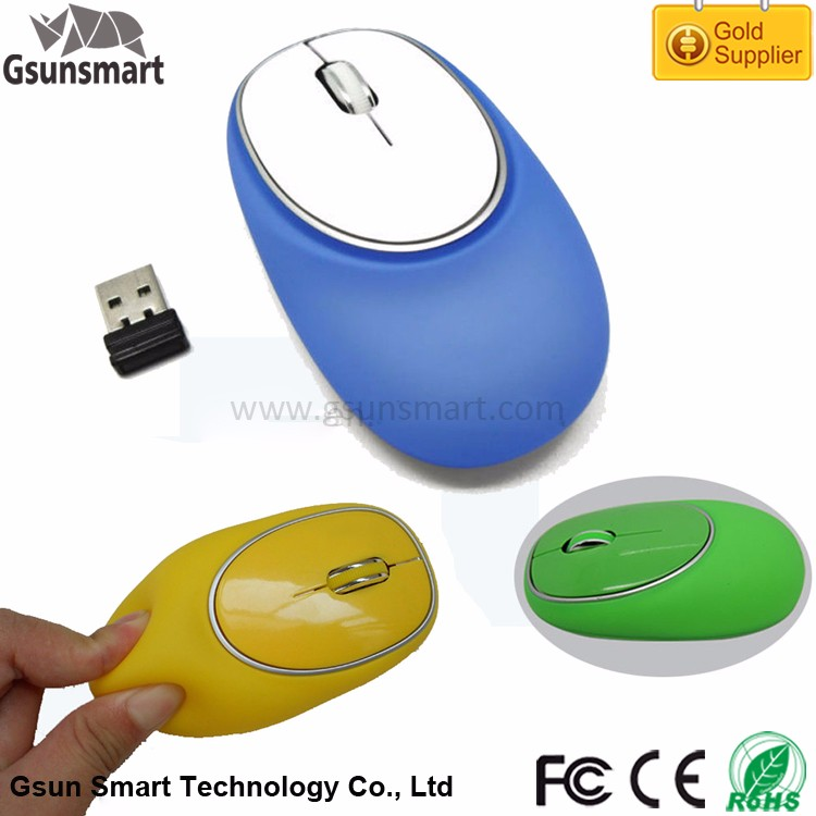 WM-24 New Year Promotional Gift for Children Mini 2.4Ghz USB Wireless Optical Silicon Mouse