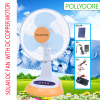 12 inch Pollydore PLD-3412 solar powered portable fan