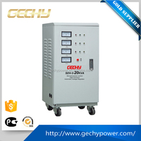 SDV-3-20000VA 20kva three phase servo motor full power automatic AC voltage regulator/stabilizer