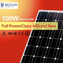 High efficiency flexible 100W 12V/24V monocrystalline solar cell panel with bestsun cells