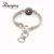 Alibaba fashion snap button jewelry silver tone single snap jewelry bracelet fit snap button charm bracelet