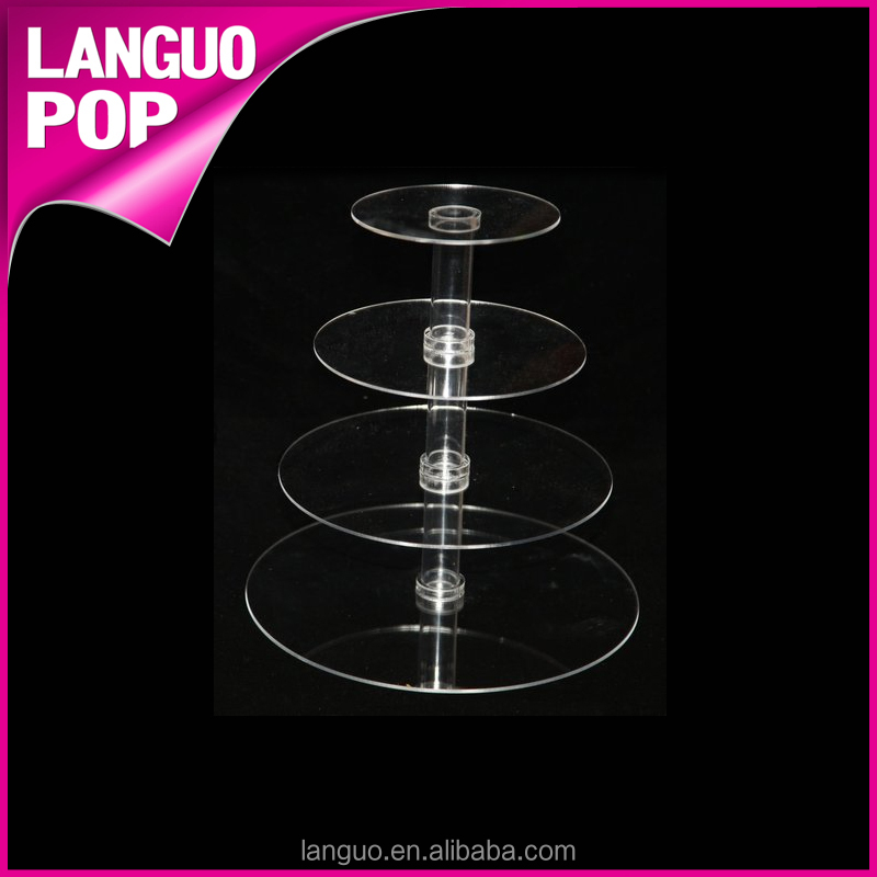 Factory Made transparent acrylic cake stand