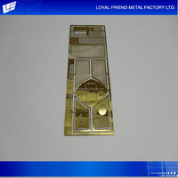 Promotion Natural Copper Photo Etched Auto Parts Model