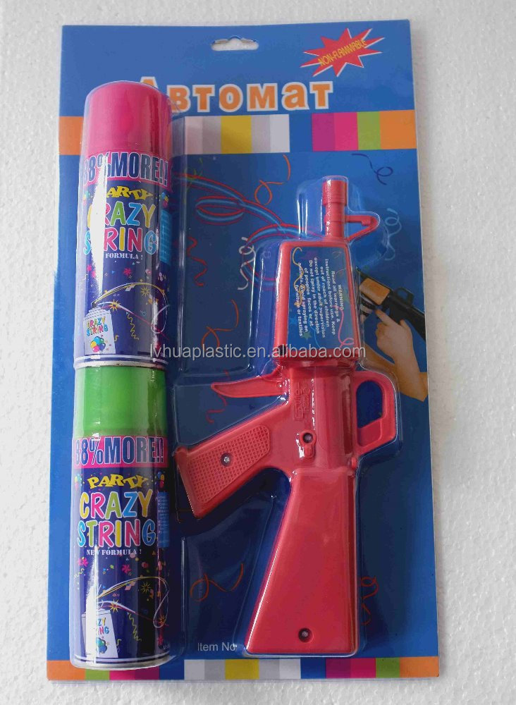 Selling Best Products with online shopping Party String Toy-Gun,Silly Crazy Party Spray String Gun for party celebration
