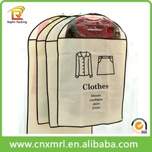 Wholesale Cloth Garment Suit Bag Zip Lock Foldable Travel Breathable Garment Bag