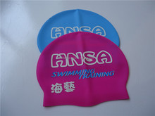 300Pcs Free Shipping Cost silicone swimming caps with logo printing