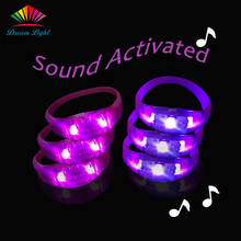 Music Sensitive LED Wristband Sound Activated LED Bracelet