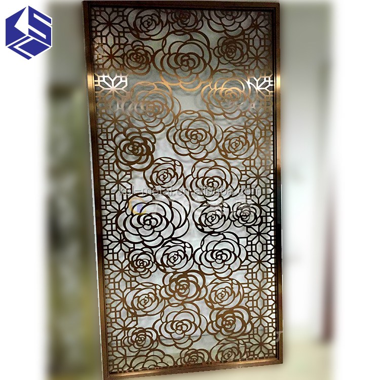 Decorative perforated metal privacy screens room dividers for hotel