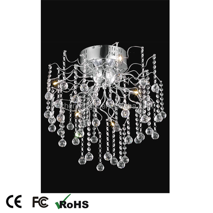 hot sale fancy drop clear crystal chandelier ceiling light