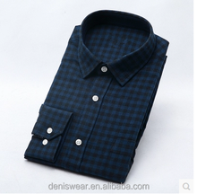 Slim fit style long sleeves casual big plaids mens shirt