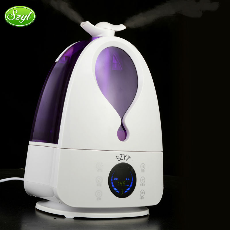 Electric ultrasonic evaporative humidifier fan