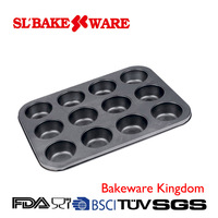 12-Cup Muffin Pan Carbon Steel Nonstick Carbon steel Bakeware
