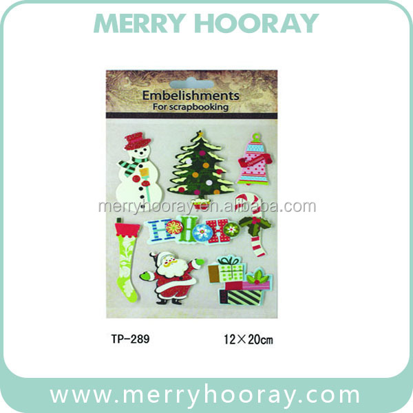 Recylced Construction Paper Christmas Crafts/ Scrapbook Paper