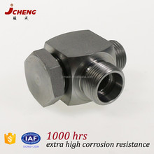 ISO9001 certified Yuhuan hydraulic steel pipe fitting high pressure banjo elbow