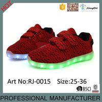 Factory Supply Usb Charging Fit Smart Music Yeezy Led Kids Shoes