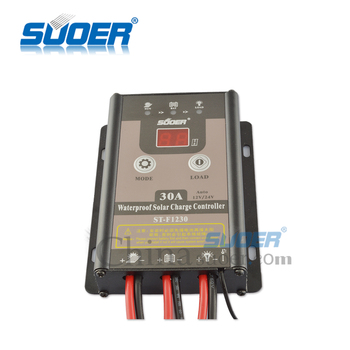 Suoer IP67 waterproof 30A 12V/24V PWM regulator solar charge controller