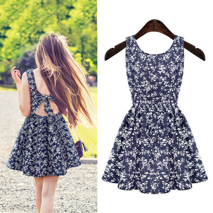 2018 Fashion Western Dresses Plain Printed Women Dress Summer Clothes
