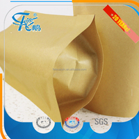High quality food kraft paper bag with window and stand up popcorn paper bag