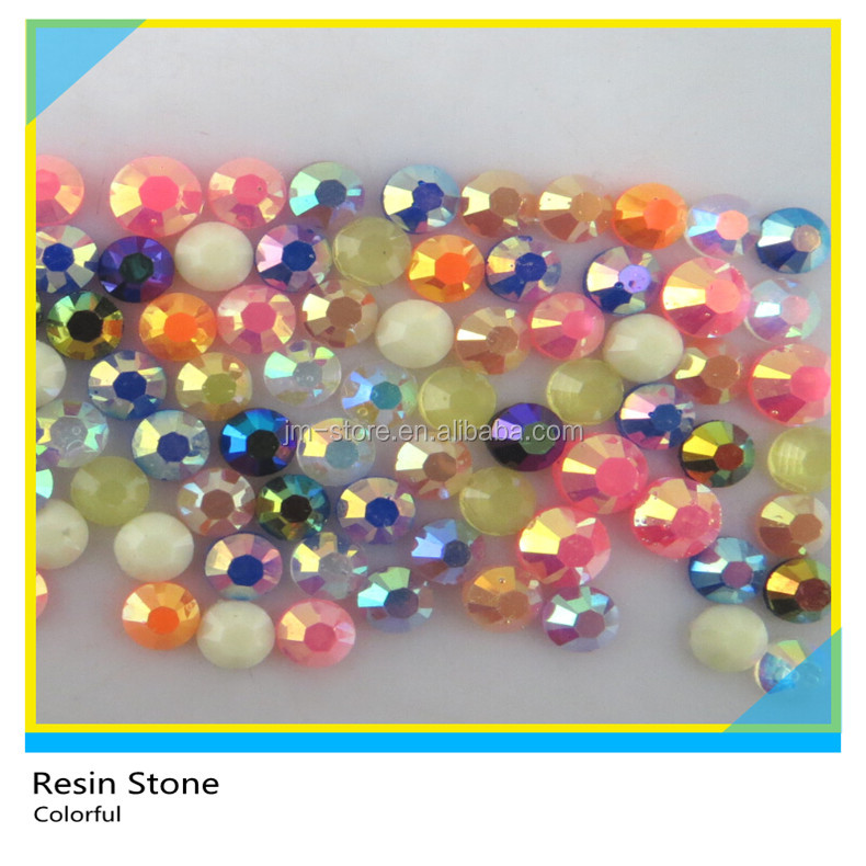 Flatback Resin Rhinestone AB Rose Round Ss16 4mm 200 Gross Package