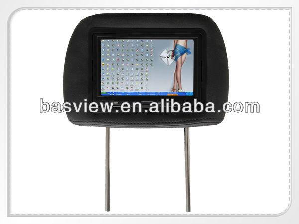 7'' headrest monitor with touch panel, lcd car pc monitor