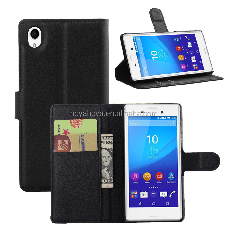 For Sony xperia M4 AQUA Case, Leather Wallet ID Slot Case Cover for Xperia M4