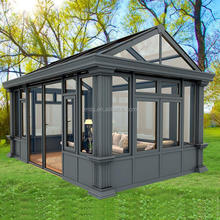 China Manufacturer Enery Saving Free Standing Glass Sun Room For Sale