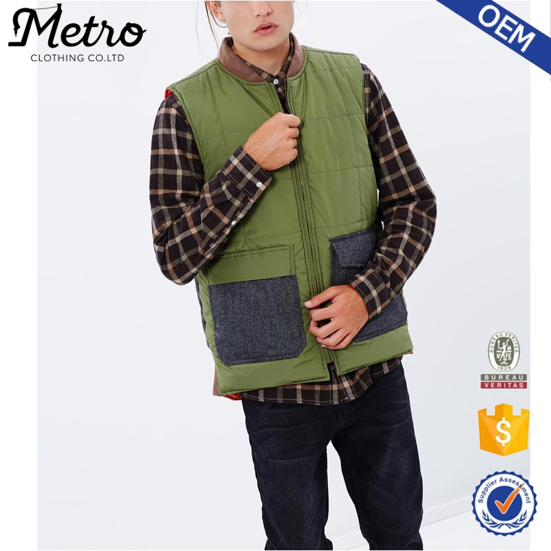 Wholesale Windproof Quilted Army Men Hunting Vest