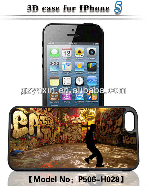 New Product 3D Case for iPhone 5 Case,plastic pc case for iphone 5