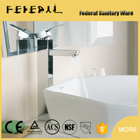 Attractive New round tall swivel bathroom tapware wash basin brass water mixer tap faucet