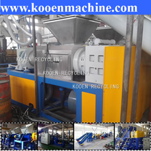 waste used scrap pe pp plastic film squeezing compactor
