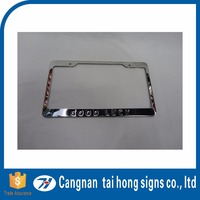 License plate frame for European license plate aluminum license plate custom