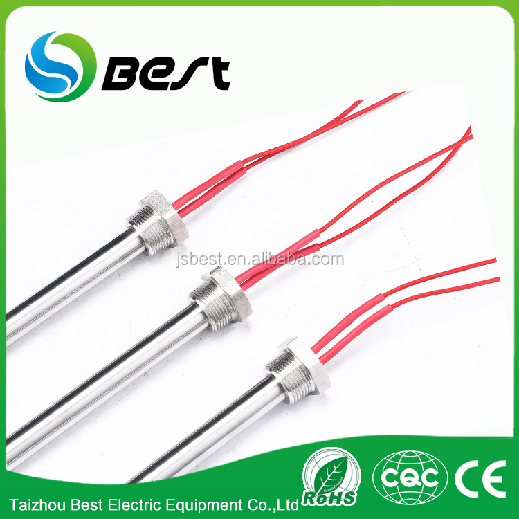 6*30mm water heater element 10mm boiler with fixed screw