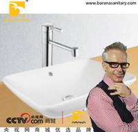 BA346 Farmhouse Sink Black Quartz Sink Bathroom Basin