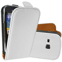 SOFT HIGH QUALITY WHITE FOR SAMSUNG GALAXY MINI 2 S6500 PU LEATHER FLIP CASE