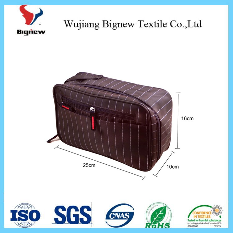 manufacturer of best black personalized cosmetic bag for men