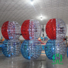 Dia 1.2m/1.5m/1.7m inflatable bumper ball, 0.8-1.0mm PVC/TPU bubble soccer football for kids&adults, body zorbing