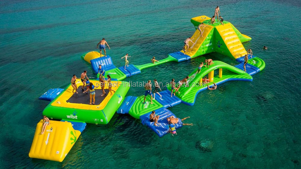 Lake inflatable water games for adult, inflatable water park toys on sale