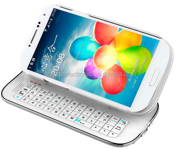 Bluetooth Slide Keyboard Stand Case Cover For Samsung Galaxy S4 i9500