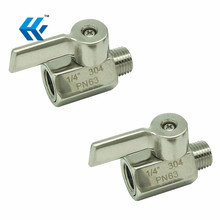 Stainless Mini Ball Valve Npt Famale X Male Thread Ss304 hydraulic hose end fittings