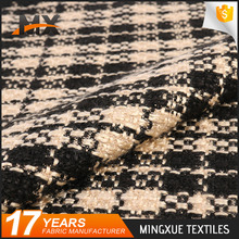 Online shopping fast delivery fashionable soft handfeel woolen checked fabric for school uniform
