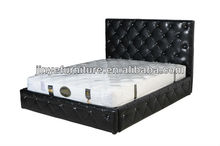 princess luxury genuine leather soft bed