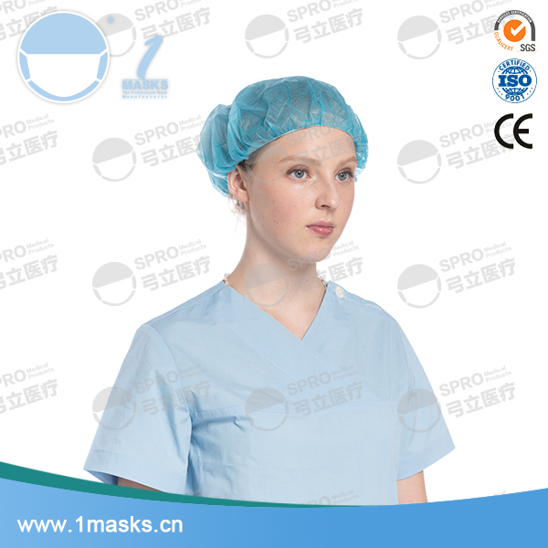 Wholesale cheap price nonwoven bouffant disposable surgical cap