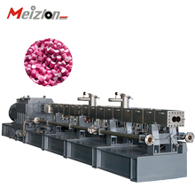 Meizlon co-rotating twin screw pe extruder / plastic granules extrusion machine