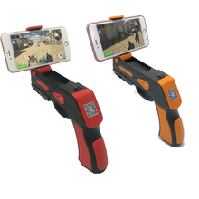 Factory good quality bluetooth 4.0 shooting game player wood AR game gun toy gun