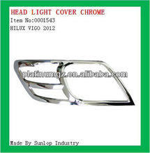 toyota hilux vigo 2012 headlight cover chrome head lamp cover for hilux 2012
