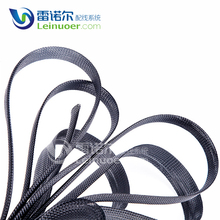 High flame resistance black pet expandable braided sleeving