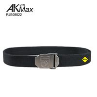 100% cotton army combat duty belt with different iron buckle pattern