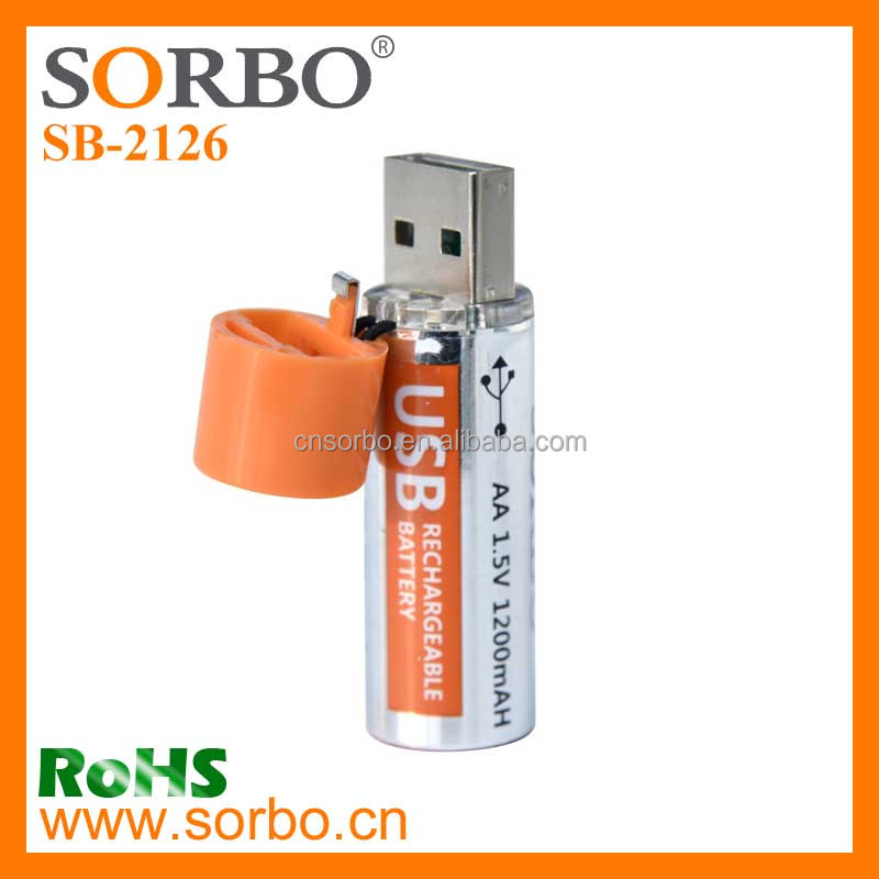Emergency fast charge USB rechargeable battery aa battery cells