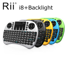3 in 1 MultiFunction Mini Wireless Keyboard i8+ With Touchpad Mouse + LED Backlit