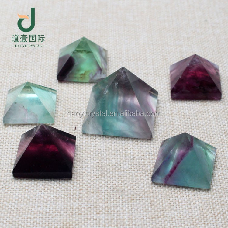 Wholesale beautiful natural fluorite pyramids unique crystal pyramid for sale